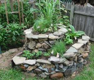 herb spiral garden, limited space garden ideas