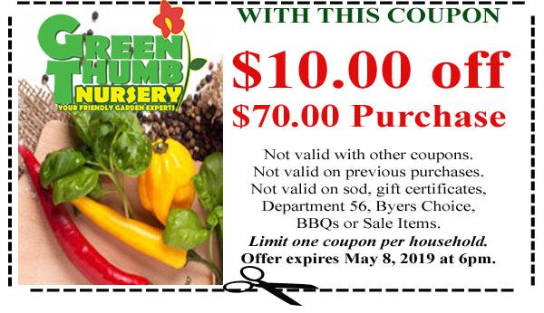 Green Thumb Coupon 5 02 19 Green Thumb Nursery