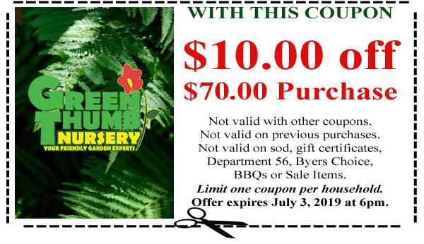 Green Thumb Coupon 6 27 19 Green Thumb Nursery